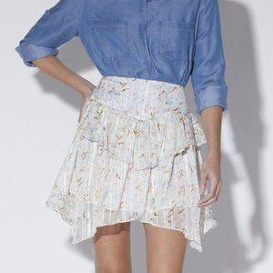 Walter Baker Becca Ruffled Handkerchief Hem Skirt